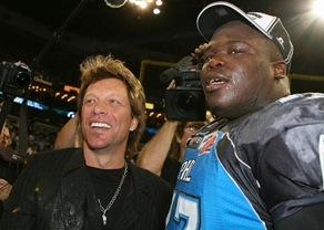 Jon Bon Jovi At Philadelphia Soul Game